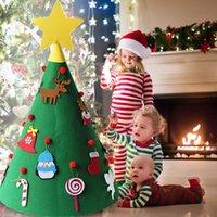 Wholesale 1 PCS 50*60CM 3D DIY Felt Toddler Christmas Tree D...