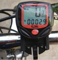 도매 200pcs 많은 방수 디지털 LCD 자전거 속도 측정기 자전거 주행 속도계 컴퓨터 디스플레이 시계
