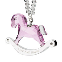 Pink Blue Clear Crystal Rocking Horse Ornament with Crystal ...