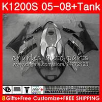 Corpo para OEM Grey Black K-1200S K 1200 S 05 10 K1200 S 05 06 07 08 09 10 103HM.50 K 1200S K1200S 2005 2006 2007 2009 2010 2010 Kit de Fairing