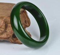 Bracelet jaspe Xinjiang Hetian Yuyu Seed Bracelet jade épinard vert