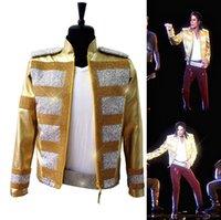 Rare MJ Michael Jackson sorprendió a la nueva moda 3D Holographic Slave The Rhythm LIVE Billboard Music Awards Crystal Golden Jacket