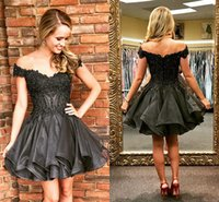 Elegant Off The Shoulder Homecoming Dresses Appliques Beadin...
