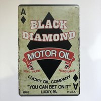New Design Black Diamond Motor Oil Vintage Rustic Home Decor...
