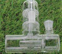 Capteur de cendres en verre pour pipes à bangs en verre de grande taille Reclaim AshCatcher Lacunaris Inline deux nids d'abeilles Ashcatcher en 18mm ou 14mm