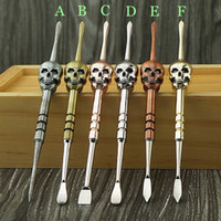 Skull design wax dabber tools 6color 120mm changeable disass...