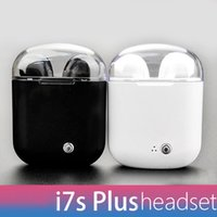 New i7s plus dual ear bluetooth headset wireless stereo audi...