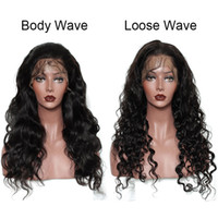 High Quality Human Hair Natural Hairline Wig for Black Women Pre Plucked Brazilian Body Loose Wave Remy Hair Lace Front Wigs Natural Color