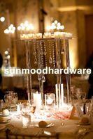 Candelabros de cristal acrílico / suporte de vela de casamento peça central do partido decoração best00017