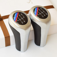 Leather+ ABS Modified 5 6 Speed Gear Shift Knob For BMW 1 3 5...