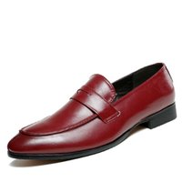 New Fashion  Formal Men Shoes Oxford Shoes For Men Flats Leather Moccasin Flats Formal Loafers zapatos
