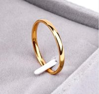 Titanium Steel Rose Gold Anti- allergy Smooth Simple Weddings...