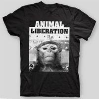 524eb8e19fa ANIMAL LIBERATION Vegan sXe EARTH CRISIS Chimp ALF Have Heart T-Shirt SIZES  S-5X