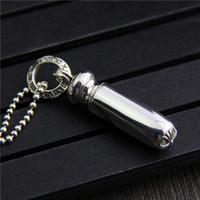 Vintage 925 sterling silver unique bullet pendant retro marc...