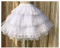 Yeni Beyaz Lolita Prenses Dantel Tutu Gelin Aksesuarları Flaşlar Petticoats Hoops Dip Etek Pannier Telaşlı Koyu Petticoat