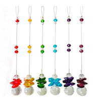 6pcs Chakra Crystal Sun Catchers Chandelier Crystals Ball Pr...