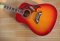 طبيعة الخشب الطنان hs الكرز الأحمر أمة الله الصلبة الراتينجية كبار مع فيشمان لاقط الصوتية الغيتار الكهربائي شحن مجاني