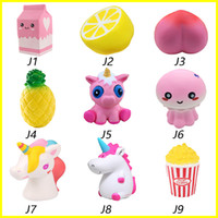 Hot Squishy toys Strawberry milk lemon peach Pineapple unico...