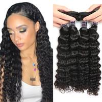 ISHOW İnsan Saç 10A Brezilyalı Derin Dalga Saç 4 Paketler Fiyatları 100% Toptan Remy İnsan Saç Dokuma Uzatma Doğal Renk 8-28 inç