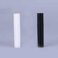 Mode 2 ml 3 ml 4 ml 5 ml 5CC Mini Portable Procès D'essai En Plastique Bouteille De Parfum Wth Spray Et Vide Tube De Test De Parfum Noir Blanc