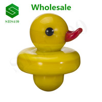 Carb Cap UFO Shape Solid Colored Glass Yellow Duck Glass Bon...