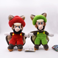 25cm Super Mario Plush Toys Musasabi Flying Squirrel Luigi P...