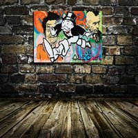 ALEC MONOPOLY portrait,Home Modern Abstract Canvas Oil Painting HD Print Wall Art Decor for Living Room Home Decoration Framed/Unframe