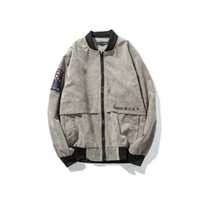 2018 envío gratis otoño nuevo producto, Corduroy, chaqueta casual de los hombres, Moda de bordado de código grande, ropa de hombre CXY76