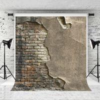 Rüya 5x7ft / 150x200 cm Fotoğrafçılar için Retro Tarzı Tuğla Arka Planında Fotoğraf Vinil Gri Tuğla Duvar Photo Booth Stüdyo Prop Backdrop