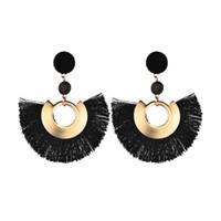 Fashion exaggerated fan Tassel Earrings Dangle Chandelier