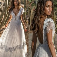 Summer Illusion Bohemia Wedding Dress Asaf Dadush Lace Backl...