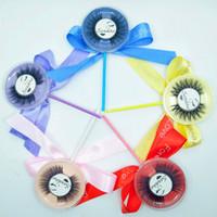 Lollipop Tam Şerit Güzellik Yanlış Eyelashes Samantha Uzantıları El Yapımı Lashes 3D Vizon Kirpik Göz Lashes Makyaj Güzellik Priivate Logosu