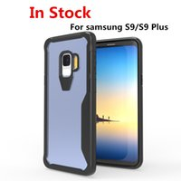 Hybrid rüstung acryl telefon case für samsung galaxy s9 plus klar transparent hard cover weiche stoßstange für iphone x 8 plus case c