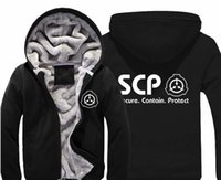 SCP Secure Contain Protect Hoodie Men's Casual Winter Jacket...