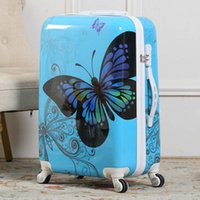 Beautiful butterfly Rolling Luggage Spinner Trolley 24 inch ...