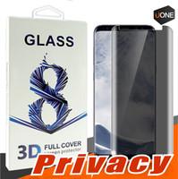 إلى Samsung Galaxy S9 S8 Plus Note8 Privacy Temered Glass Anti Spy Anti Glare واقي شاشة زجاجي واقي فيلم ل S7 S6 Edge