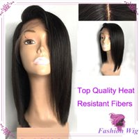 Cheap Sexy Short Lace Front Wigs Black Heat Resistant Fiber ...