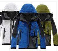 Classic BRAND UOMO Oudoor con cappuccio Polartec softshell norTh Giacca Sport maschili Antivento Impermeabile Visi invernali traspiranti Cappotti