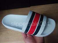fashion striped print slide sandals for mens and womens unis...
