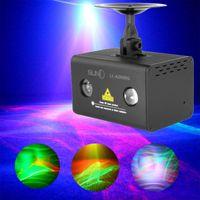 RGB أورورا ليزر العارض ديسكو ضوء المرحلة الإضاءة تأثير RB LED موجة المياه لوميير الميلاد الرئيسية DJ ديسكو نادي الحزب أضواء 110V-240V