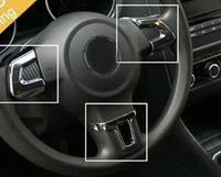 För bilkrom styling ratt trim täcke ABS för Volkswagen VW Jetta MK6 Golf 6 Polo Bora 2011 2012 2013