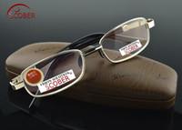Scamer = Natural Crystal Multi-Coated Lens Full-Rim Nikkel Legering Luxe Mannen Vrouwen Leesbril +0.75 +1 +1.25 +1.5 +1.75 tot + 4