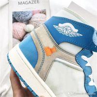 La nuova release 1 Sneakers PowderBlue 1S UNC Uomo autentica qualità scarpe  da basket vera pelle 62d2afb8045