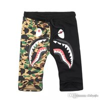 Pantalon court de mode Hip Hop Vendre comme Hot Cakes Hommes Shark Head Luminous Camouflage Loves Pantalon Pantalon de Sport de Vol Taille M-3XL