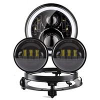 """Koplamp Motorcycle Onderdelen 7 """"LED Motor koplamp 4.5"""" 4 1/2 inch passerende lichten voor Heritage Softail Classic"""