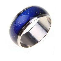스테인레스 링 색상 기분 반지를 변경 / 감정 온도 반지 와이드 6mm 스마트 주얼리 직접 판매 CBRL