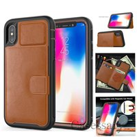 Defender Leather Wallet Cases For iPhone X 8 7 6 Plus Stand ...