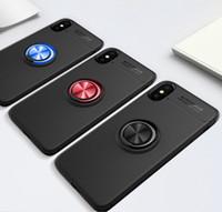 Per iPhone X 6 7 8 6S Caso Inoltre S9 Con 360D rotazione dell'anello del metallo supporto dell'automobile della copertura del basamento magnetico Fundas Capa