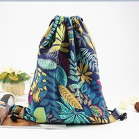 2018 Cotton Fabric backpack beach drawstring bag 20- 35 Litre...