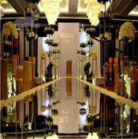 1.2 mx 10 m / rollo Moda Plata Espejo Alfombra Corredor de pasillo para el banquete de boda de decoración de fondo Suministros 2018 barato